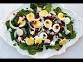 {Salad Recipe} Spinach Salad with Warm Bacon Dress…
