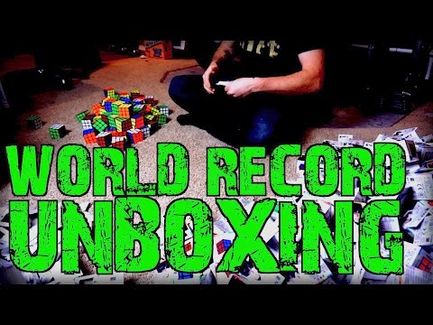 UNBOXING 500 SPEED CUBES!!! - WORLD RECORD
