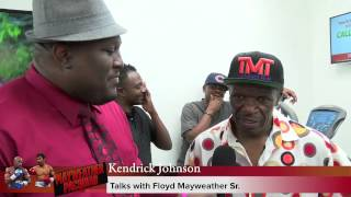 video I spoke with Floyd Mayweather Sr. at Floyd Mayweather's media day workout in Las Vegas, he shares his thoughts on Mayweather vs Pacquiao and how he thinks it's going to go down in his own very...