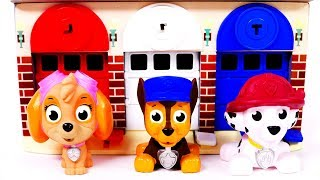 Learn Colors with Garage Parking and Paw Patrol Toys