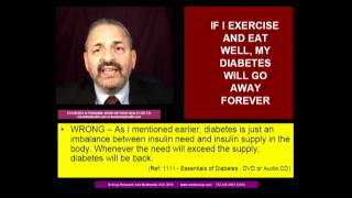 "MYTH DIABETES - ""IF I EXERCISE AND EAT WELL MY DIABETES WILL GO AWAY FOR EVER"" - HINDI - Dr.Anup,MD"