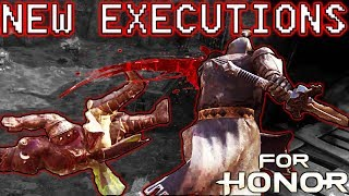 [For Honor] NEW EXECUTIONS ARE SO COOL!!