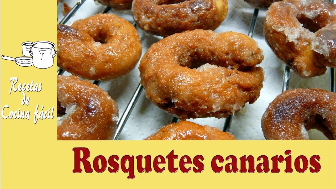 Recetas de cocina f cil rosquetes canarios youtube for Cocinar facil