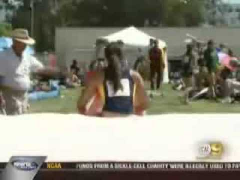 Allison Stokke NCAA West Regional 2008 CBS2/KCAL9