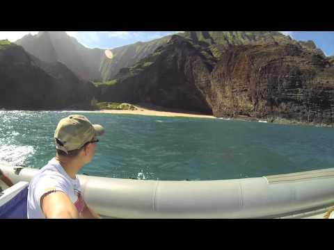 Napali Coast Boat Tour HD - [Kauai, Hawaii 2014 Day 6] thumbnail
