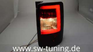 SWCeli LED Rückleuchten für VW Caddy Typ 2K 03-15 red/smoke Lightbar SW-Tuning