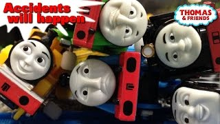 "Thomas and friends ""Accidents will happen"" トーマス プラレール ガチャガチャ じこはおこるさ"