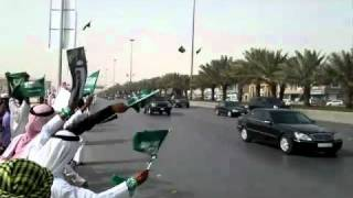 Saudi Arabian king's MASSIVE motorcade