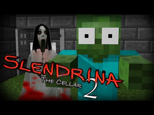 Monster School:  SCARY SLENDRINA THE CELLAR 2 CHALLENGE - Minecraft Animation