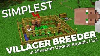 How to make a SIMPLE Villager Breeder in Minecraft 1.13 Update Aquatic | Infinite Villager Breeder