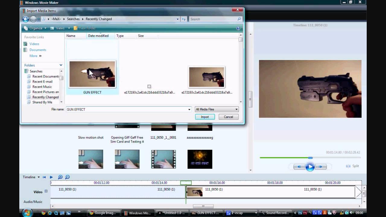 how to make gunshot effect on movie maker youtube