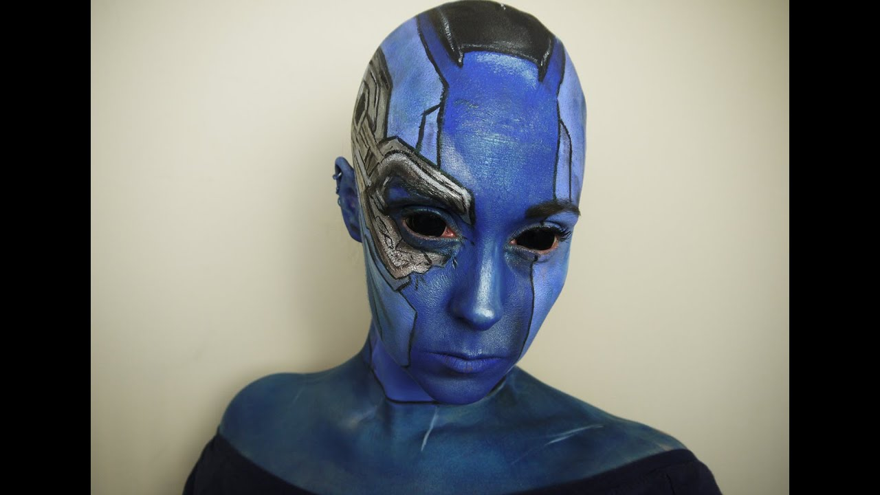 Guardians Of The Galaxy Nebula Makeup Tutorial Youtube