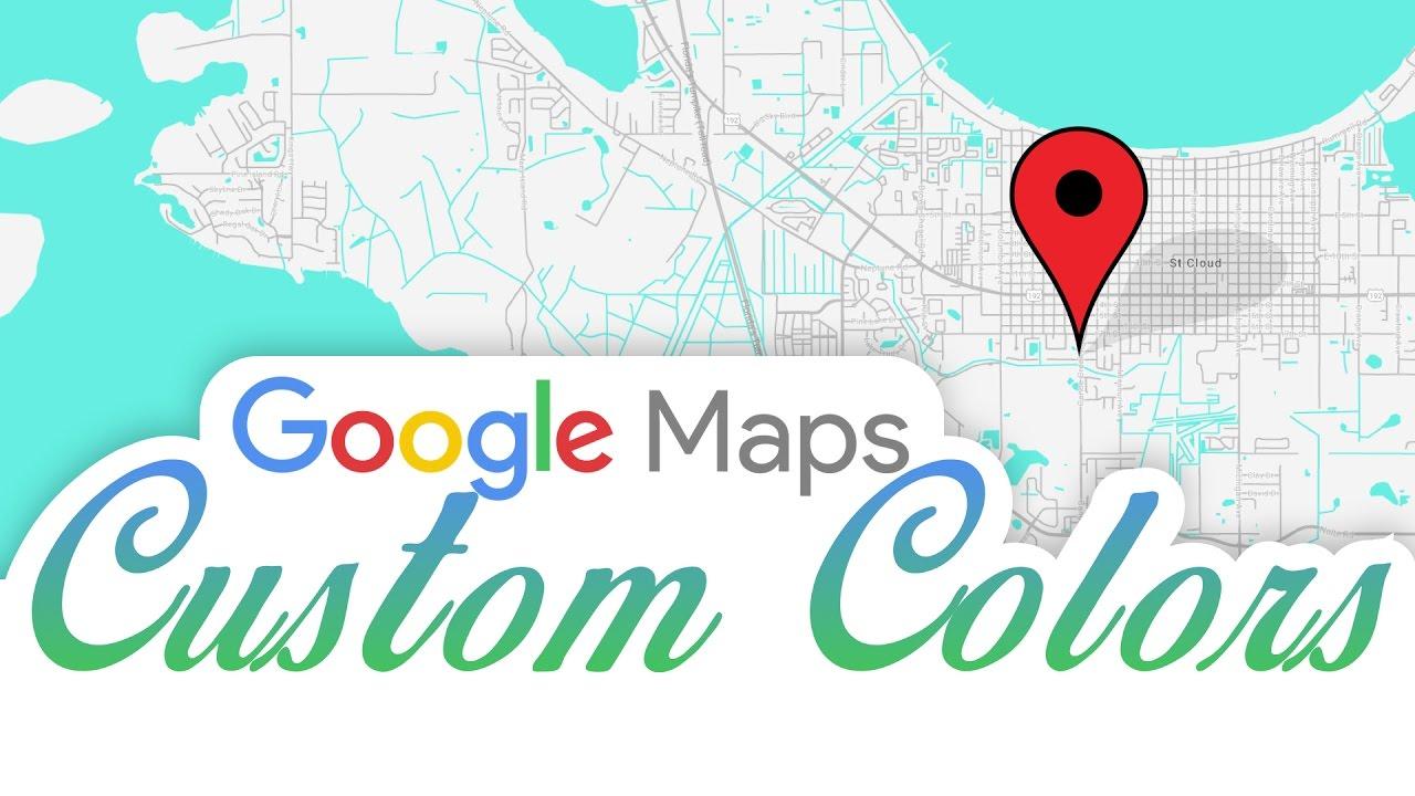 Google Maps Custom Colors In Html And Wordpress Youtube
