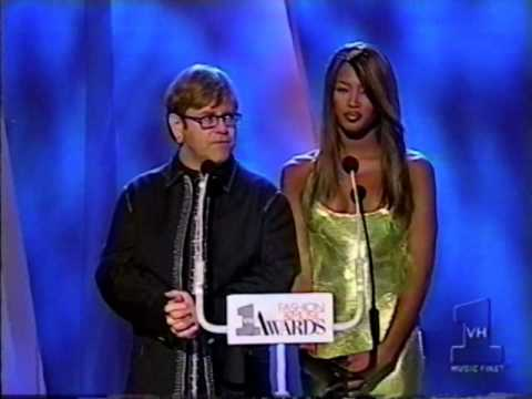 VH1 Fashion and Music Awards • Naomi Campbell & Elton John • 1995