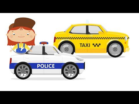 Cars Cartoon for Kids. Cartoon police car & taxi. Car accident & car doctor