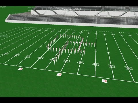 The Pretender Marching Band Drill Design - Oak Forest High School