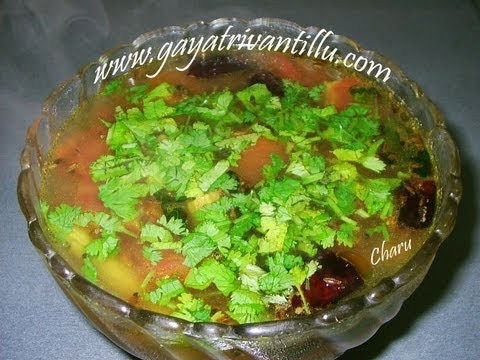 Andhra Charu - Miriyala Rasam - Telugu Recipes - Vegetarian Cuisine Food