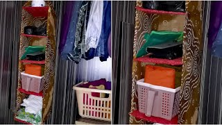 DIY Wardrobe Organizer from Old Clothes - Wardrobe organization idea