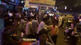 Eating Bun Maska Pav With Tea at Churchgate Station Mumbai