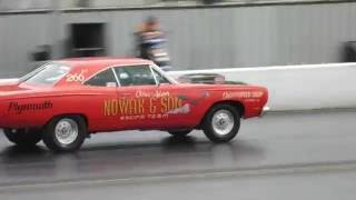 Dodge dart Hemi Super Stock Drag racing at Santa Pod Drag Stelgia