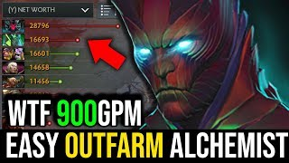 How to Completely Outfarm Alchemist [Terrorblade] Amazing 900GPM 6Slots in 33Min | Dota 2 FullGame
