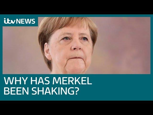 Angela Merkel seen shaking again at event in Berlin  ITV News