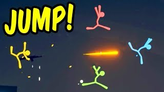 JUMP!! - Stick Fight Funny Moments