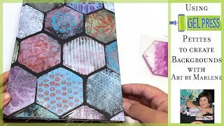 Making Backgrounds with Gel Press Petites with Art by Marlene
