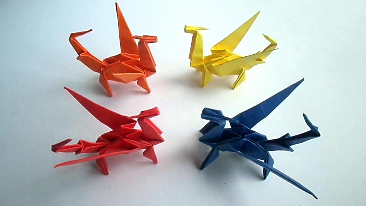 Оригами дракон видео смотреть