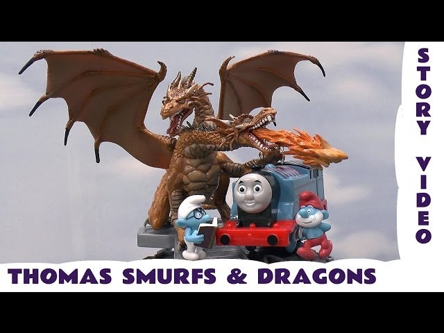 Thomas and The Dragons Story, The Smurfs Thomas and Friends Kids Toy Story Dragon Monsters Smurf