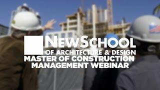 Webinar #2 | Master of Construction Management