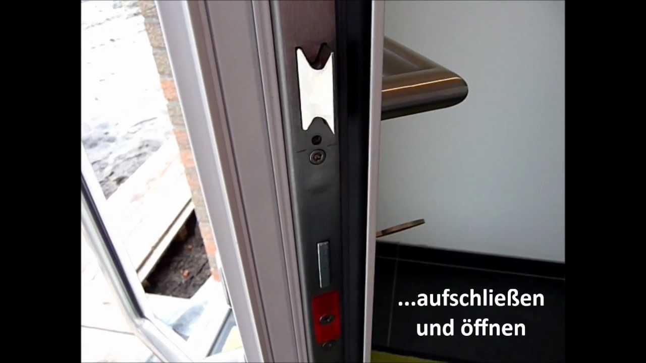 fingerabdruckscanner und motorschloss in der haust r youtube. Black Bedroom Furniture Sets. Home Design Ideas