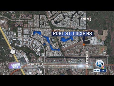 Port St. Lucie High School on code yellow lockdown