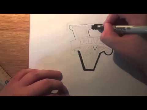 Видео как нарисовать ГТА 5