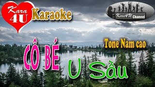 Karaoke Cô bé u sầu │Tone nam cao│- [Kara4U]
