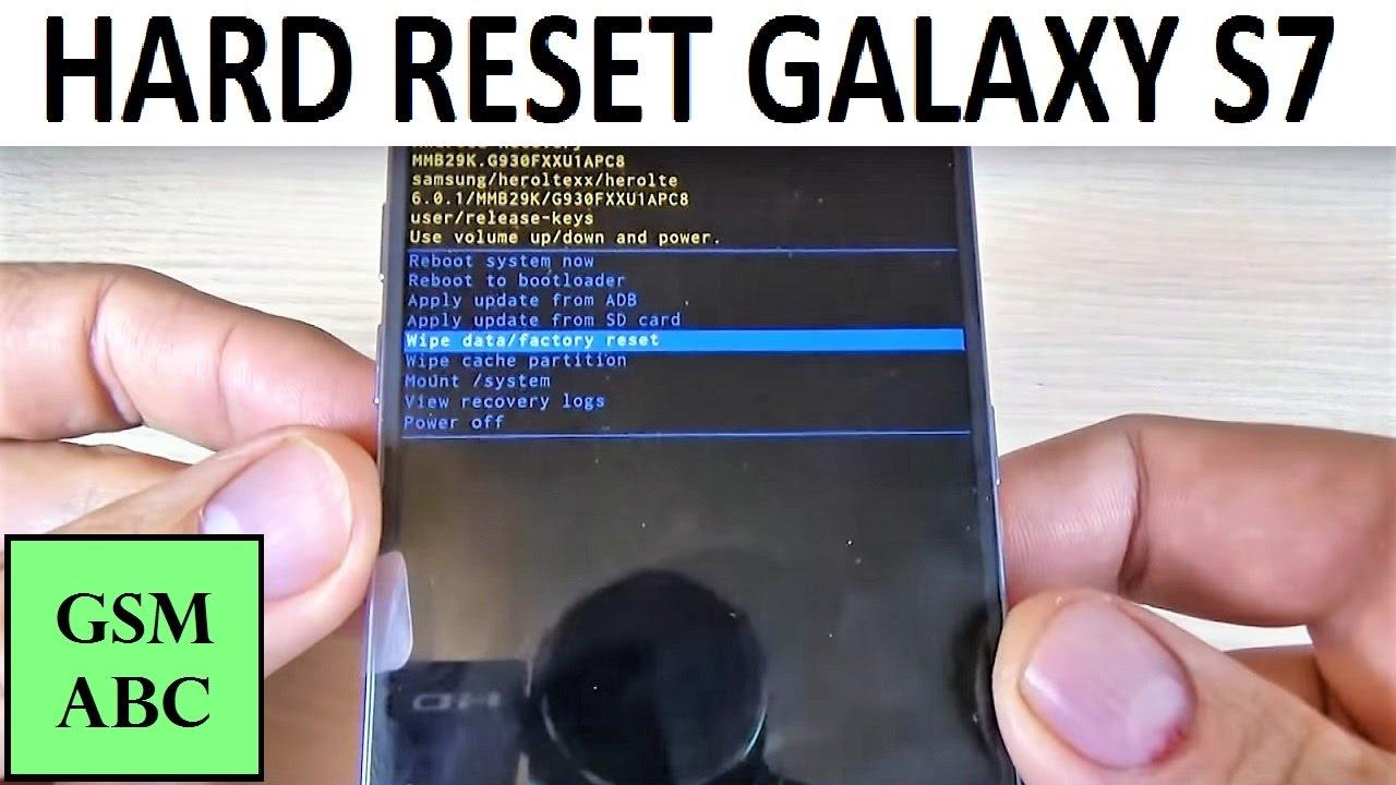Как сделать hard reset на samsung galaxy s6 77