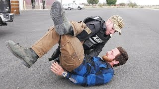BLACK BELT PUTS ME IN AN ARM BAR WHILE IN CUFFS!