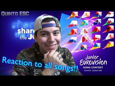 Reaction To All Junior Eurovision 2019 Songs - Quinto ESC
