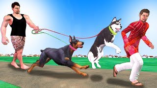 पहलवान और चोर Dog Thief Hindi Kahaniya - Moral Kahani - Bedtime Stories - 3D Hindi Fairy Tales