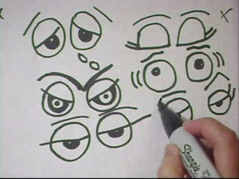 Drawing Eyes Tutorial Part 3- To replace googly eyes