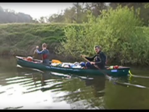 Canoeing on the River Wye from Ross-on-Wye to Redbrook via Symonds Yat and Monmouth. Wild camping.
