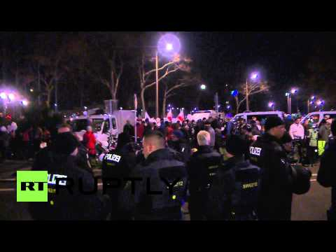 Germany: Thousand Of Anti-islam And Opposition Protesters March In Dresden video