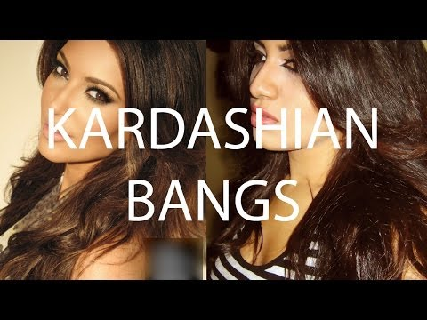 How To: Kim Kardashian Bangs Hair Tutorial - DIY