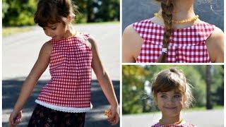 ROUND YOKE DRESS - KITTY- LINED WITHOUT A PLACKET
