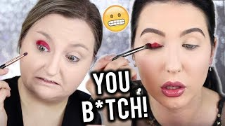 I TRIED FOLLOWING A JACLYN HILL MAKEUP TUTORIAL | OMG LOL