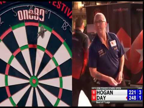 Paul Hogan averaging 117 vs. Daniel Day - 2018 BDO Isle of Man Open
