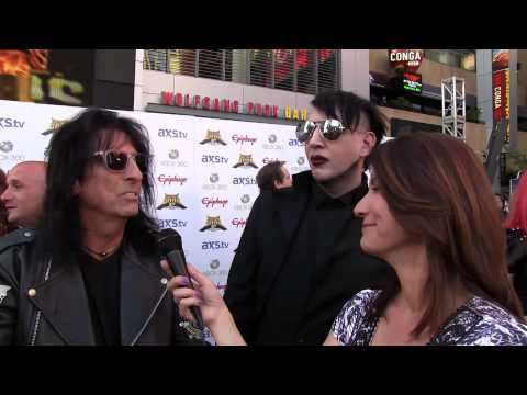 Frankie DiVita interviews Alice Cooper & Marilyn Manson at the 2013 Revolver Golden Gods Awards