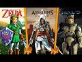 MINECRAFT BATTLE  ASSASSIN'S CREED vs MASTER CHIEF vs ZELDA!! WHO'S THE BEST VIDEO GAME?? -
