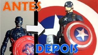 TRANSFORMING CHEAP CAPTAIN AMERICA INTO AN ACTION FIGURE (TOY MAKEOVER)