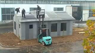 Dựng nhà nhanh bằng tấm tường bê tông nhẹ Light Wall